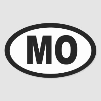 Missouri - sheet of 4 oval car stickers