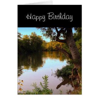 Missouri Shoal Creek en la tarjeta de cumpleaños