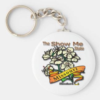 Missouri Show Me State Hawthorn Keychain