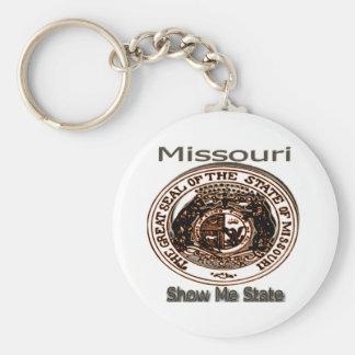 Missouri Show Me State Seal Keychain