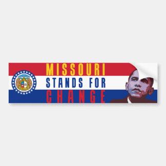 Missouri Stands for Change - Obama Bumper Sticker Car Bumper Sticker