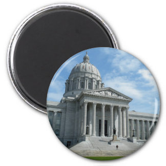 Missouri State Capitol 2 Inch Round Magnet