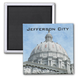 Missouri State Capitol 2 Inch Square Magnet
