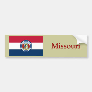 Missouri State Flag Bumper Sticker