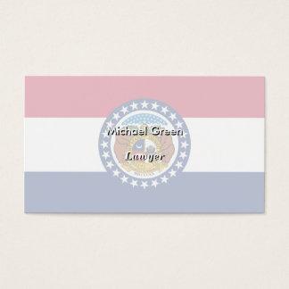 Missouri State Flag Business Card
