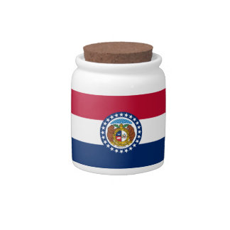 Missouri State Flag Candy Jars