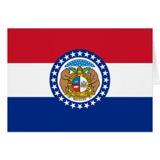 Missouri State Flag Card