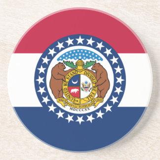 Missouri State Flag Drink Coasters