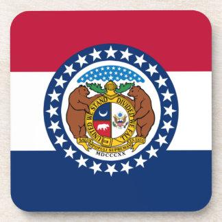 Missouri State Flag Beverage Coaster
