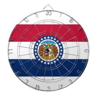 Missouri State Flag Dart Board