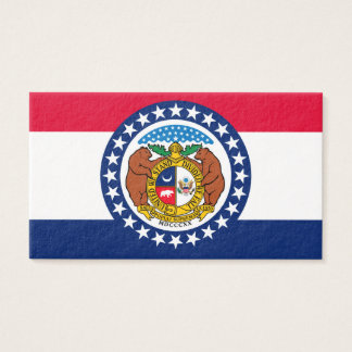 Missouri State Flag Design Business Card