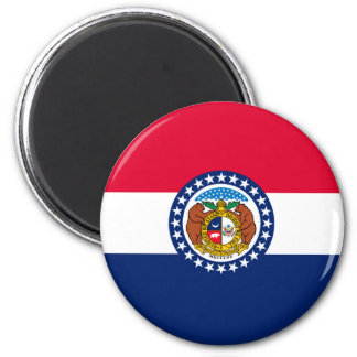 Missouri State Flag Design Magnet