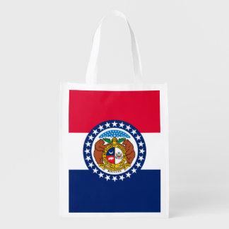 Missouri State Flag Design Reusable Grocery Bag
