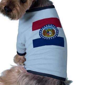 Missouri State Flag Pet T Shirt