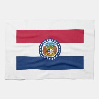 Missouri State Flag Hand Towel