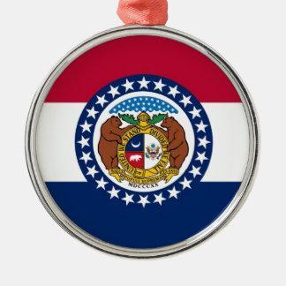 Missouri State Flag Metal Ornament