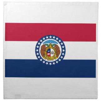 Missouri State Flag Napkin