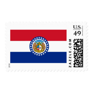 Missouri State Flag Postage Stamp