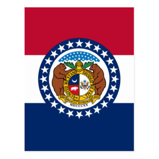 Missouri State Flag Postcard