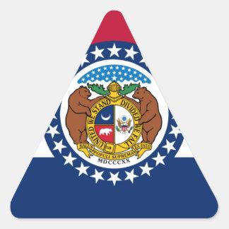 Missouri State Flag Triangle Sticker
