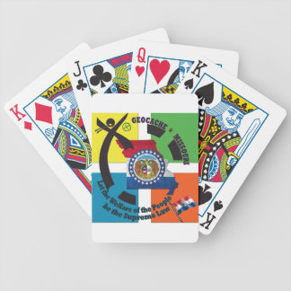 MISSOURI STATE MOTTO GEOCACHER BICYCLE PLAYING CARDS