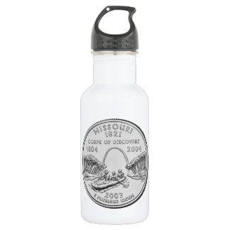 Missouri State Quarter Stainless Steel Water Bottle