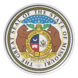 Missouri state seal america republic symbol flag melamine plate