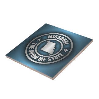 """Missouri Steel (Blue)"" Ceramic Tile/Trivet Ceramic Tile"