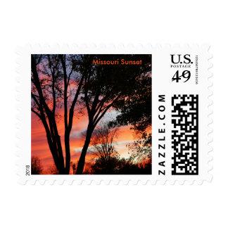 Missouri Sunset Postage