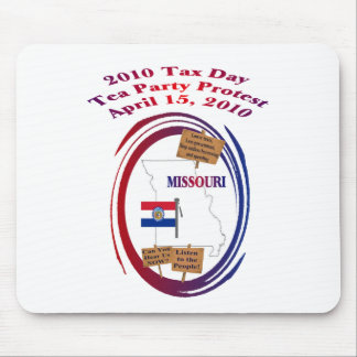 Missouri Tax Day Tea Party Protest Mouse Pad