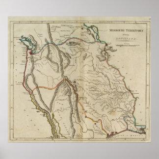 Missouri Territory formerly Louisiana Posters