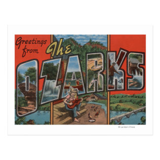 Missouri - The Ozarks - Large Letter Scenes Postcard
