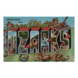 Missouri - The Ozarks - Large Letter Scenes Posters