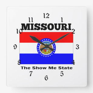 Missouri, The Show Me State Square Wall Clock