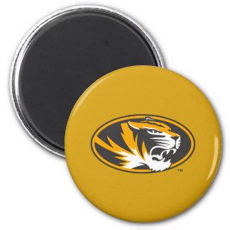 Missouri Tiger Logo 2 Inch Round Magnet