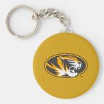Missouri Tiger Logo Basic Round Button Keychain