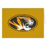 Missouri Tiger Logo Greeting Card