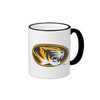Missouri Tiger Logo Ringer Coffee Mug