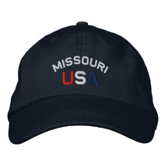 Missouri USA Embroidered Navy Blue Hat