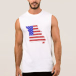 Missouri USA flag silhouette state map Sleeveless T-shirt