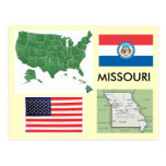missouri, map, flag, united, states, usa, america,