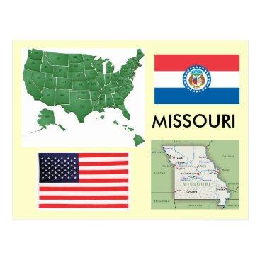 USA Themed Missouri, USA Postcard