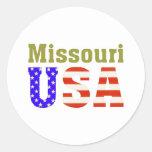 Missouri USA! Round Stickers