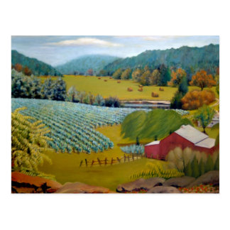 Missouri Vineyard Landscape Oil Painting Postcard