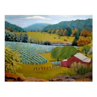 Missouri Vineyard Landscape Oil Painting Postcard