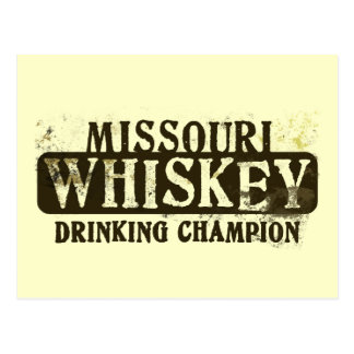 Missouri Whiskey Drinking Champion Postcard