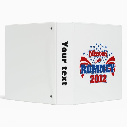 Missouri with Romney 2012 Binder