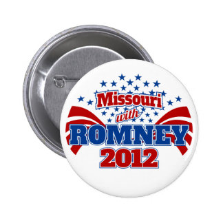 Missouri with Romney 2012 Pinback Buttons