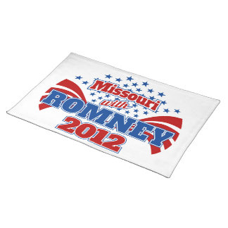 Missouri with Romney 2012 Cloth Placemat