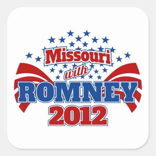 Missouri with Romney 2012 Square Sticker